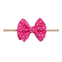 Jamie Bows Headband Hot Pink
