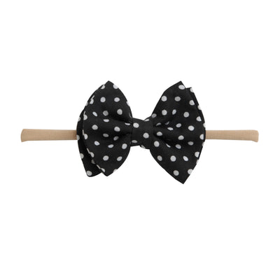 Jamie Bows Headband Black