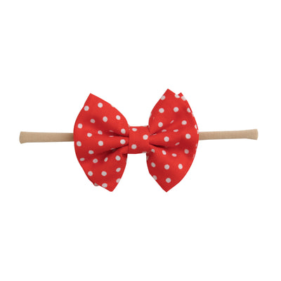 Jamie Bows Headband Red