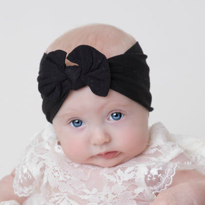 Knot Nylon Headwraps Black 26