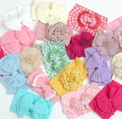 5 or 10 Headbands GRAB a BAG WIDE NYLON Headbands