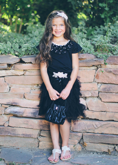 Swan Princess Black Tulle Skirt