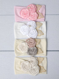 Golden Garden Flower Headband - 4 Colors