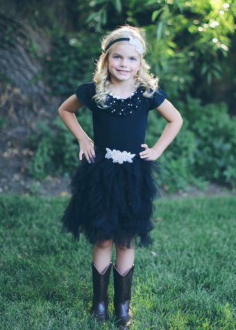 Swan Princess Black Tulle Skirt - Think Pink Bows - 1