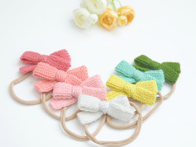 Crochet Bow Headbands 15 Colors