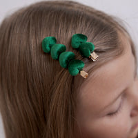Heart Velvet CLIP SET of 2 EMERALD