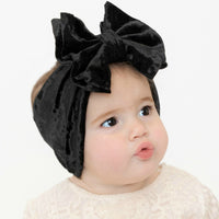 Double Bow Velvet Headwraps Black 26