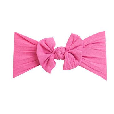 Knot Nylon Headwraps Rose Pink 17