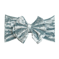 Double Bow Velvet Headwraps  Capri Blue 43