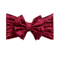 Double Bow Velvet Headwraps Ruby 40