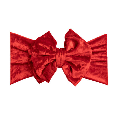 Double Bow Velvet Headwraps  Red 24