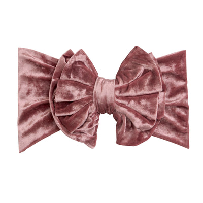 Double Bow Velvet Headwraps Dusty Rose 13
