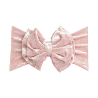 Double Bow Velvet Headwraps  Pink 4
