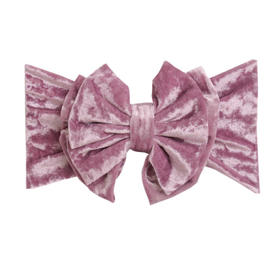 Double Bow Velvet Headwraps 7 Amethyst