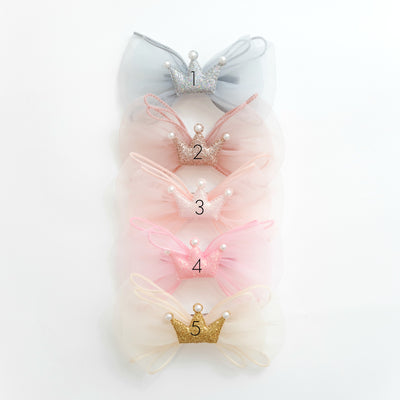 Princess Bow Hair Clip 5 Colors