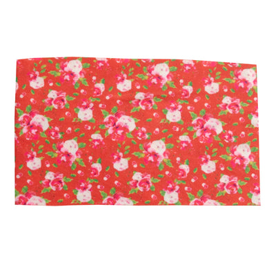 Lace Trim Nylon Print Headwraps H5