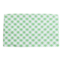 Lace Trim Nylon Headwrap Checkered Green