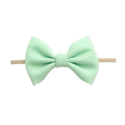 Lulu Bow Nylon Headbands Mint 27