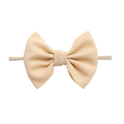 Lulu Bow Nylon Headbands Natural 18