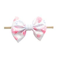 Lulu Bow Nylon Headband Prints 1