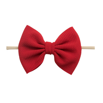 Lulu Bow Nylon Headbands Ruby 26