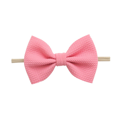 Lulu Bow Nylon Headbands Bubblegum 8