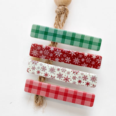 LET IT SNOW NON SLIP Christmas CLIPS  Set of 4