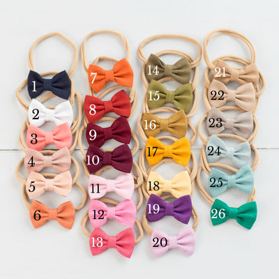 ROSIE Baby Bowtie Headbands 26 COLORS