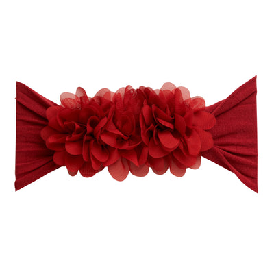 Flower Trio Nylon Headwrap RUBY 40