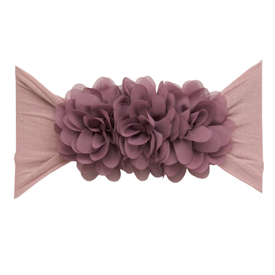 Flower Trio Nylon Headwrap PURPLE GREY 7