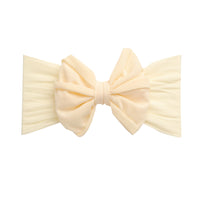 Rolled Bow on Nylon Headwrap IVORY 8