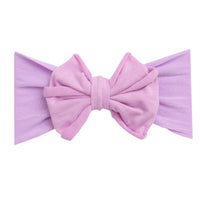 Rolled Bow on Nylon Headwrap LAVENDER 2