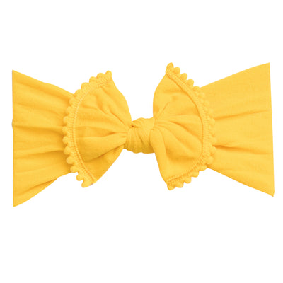 Pom Pom Nylon Headwrap Lemon 29