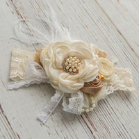 Elizabeth Couture Flower Lace Headband