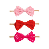 SET of 3 Nylon Headbands Valentine #3