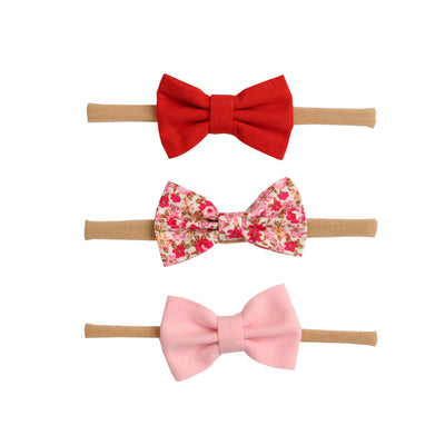 SET of 3 Nylon Headbands Valentine #1