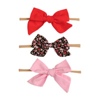 SET of 3 Nylon Headbands Valentine #4