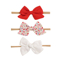 SET of 3 Nylon Headbands Valentine #5