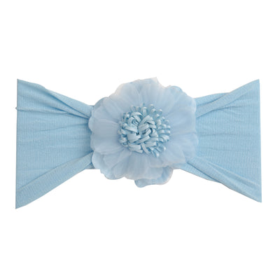 Belle Nylon FLOWER Headwraps BLUE 1