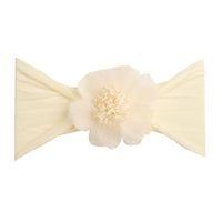 Belle Nylon FLOWER Headwraps IVORY 8