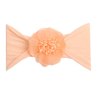Belle Nylon FLOWER Headwraps PEACH 6