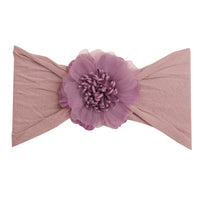 Belle Nylon FLOWER Headwraps AMETHYST 7