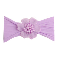 Belle Nylon FLOWER Headwraps LAVENDER 2