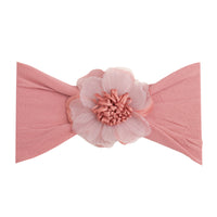 Belle Nylon FLOWER Headwraps DUSTY ROSE 13