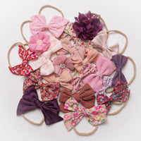10 or 20 Skinny Nylon Headbands GRAB a BAG