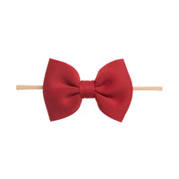 PUFF Bow Nylon Headband Ruby 2