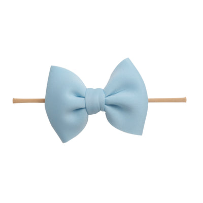 PUFF Bow Nylon Headband Lt. Blue 21