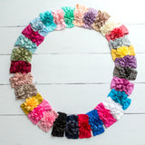 Dahlia Nylon FLOWER Headwraps 31 Colors