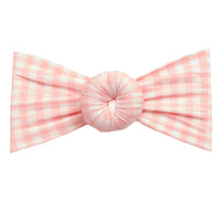 Turban Nylon Checkered Headwrap LIGHT PINK