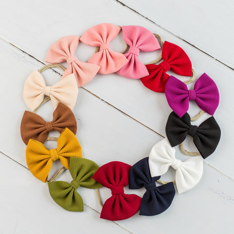 Lulu Bow Nylon Headbands |13 Colors